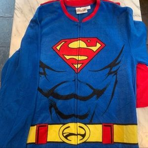 Superman Flannel Onesie with Cape Size L